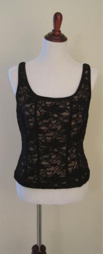 Women's Designer Lace Tank Top (Sz L)