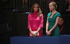Ivanka Trump (R) and Melania Trump (L) appear before the second presidential debate at Washington University in St. Louis, Missouri on October 9, 2016. / AFP / POOL / RICK WILKING        (Photo credit should read RICK WILKING/AFP/Getty Images) via @AOL_Lifestyle Read more: http://www.aol.com/article/lifestyle/2016/11/10/ivanka-trump-style/21603497/?a_dgi=aolshare_pinterest#fullscreen
