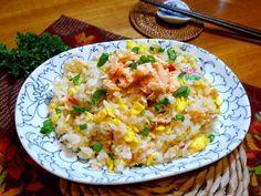 蛋香鮭魚炒飯