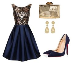 """""""Cocktail dress"""" by tania-alves ❤ liked on Polyvore featuring Chi Chi, KOTUR, Christian Louboutin and Fremada"""