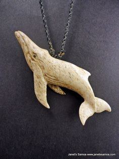 Janet's - Sperm Whale BRPW29, 279.00 AUD (http://www.janetssamoa.com/sperk-whale-from-whale-brpw29/)      South Pacific Sperm Whale carved from Whale Jaw Bone     Polynesian Pendant Held with Afa (Coconut Husk)     Adjustable string length for comfortable fi     Dimensions (Width, Height, Depth): 7.5 x 3.5 x 0.6 cm