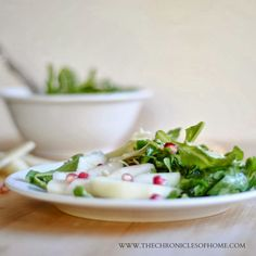 Arugula, Pear, & Pomegranate Salad from The Chronicles of Home