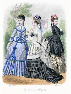 French Ladies Fashions 1873.