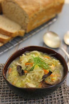 Cabbage Recipes, Soup Recipes, Cooking Recipes, Russian Cabbage Soup Recipe, Curry Recipes, Fast Recipes, Eastern European Recipes, European Cuisine, Ukrainian Recipes