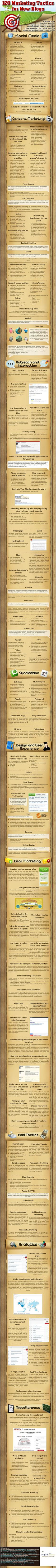 120 #Marketing Tactics For Your Blog [Infographic] - #blogging #infographic