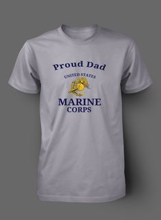 Proud Marine Dad - Wife - Mom - Veteran t shirt by WilliamsDigitalStore on Etsy