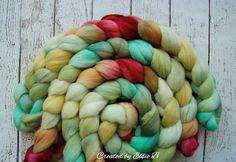 Organic Polwarth 'Caterpillar' 4 oz hand dyed by CreatedbyElsieB