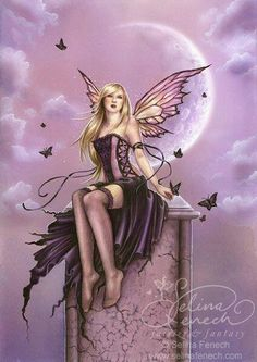 Artist Selina Fenech Fantasy Myth Mythical Mystical Legend Elf Elves Dragon Dragons Fairy Fae Wings Fairies Mermaids Mermaid Siren Sword Sorcery Magic Witch Wizard/Fairy-in-stockings. Magical Creatures, Fantasy Creatures, Elfen Fantasy, Illustration Fantasy, Moon Fairy, Kobold, Elfa, Elves And Fairies, Fairy Pictures