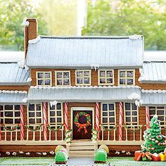 The Ultimate Gingerbread House | See how we transformed our Nashville Idea House into a gingerbread mansion and get decorating ideas for your own festive construction.
