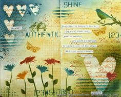 Layers of ink - Nature's Heart Art Journaling Page, made for Simon Says Stamp…