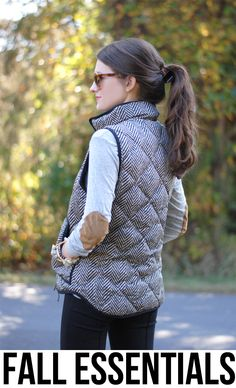 I really really really want to find a vest like this!  Fall Essentials - Southern Curls & Pearls