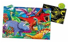 Puzzle Doubles - Glow in the Dark - Dino by The Learning Journey - $14.95