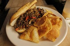 Rozzelle Court -  Sept. 17 lunch entrees: beef Philly cheesesteak | Served 11-2