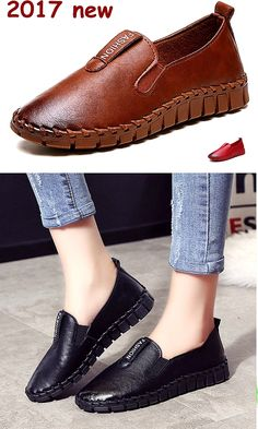Buy Women Casual Driving Shoes Loafer Shoe Round Head Brush Color Flat Shoes Slip-on Loafers at Wish - Shopping Made Fun Loafers For Women, Loafers Men, Flat Shoes, Oxford Shoes, Loafer Shoes, Flats, Latest Fashion Design, Driving Shoes, Wish Shopping
