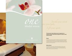 Show The Amenities Rather Than Telling  Spa Brochure Design