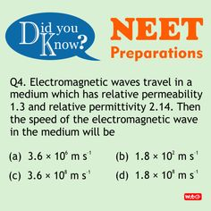 Do you know? #PhysicsProblems #NEET2018 #Physics #Questions #NEETpreparation #MTGBooks #PCMBToday Mtg Books, Physics Questions, Physics Problems, Science News, Did You Know
