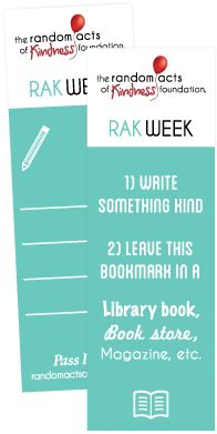 Bookmarks Random Acts of Kindness Week- Feb 10-16. #laurenshope #kindness #randomactsofkindness