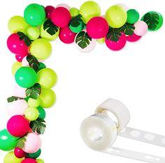 Amazon.com : adult balloon garland Hawaii Party Decorations, Balloon Decorations Party, Party Themes, Party Ideas, Water Birthday, Birthday Balloons, 3rd Birthday, Birthday Ideas, Kids Luau Parties