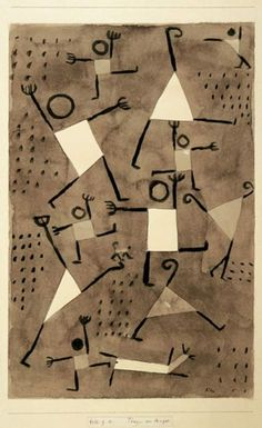 Paul Klee, Dancing Under the Empire of Fear, 1938.