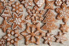 Můžete se inspirovat mnoha druhy zdobení. Cookie Jars, Fondant Cakes, Xmas, Christmas, Biscotti, Gingerbread Cookies, Cooking, Desserts, Food