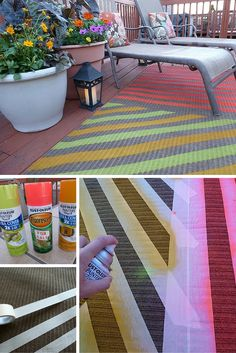 Check out the tutorial: #DIY Outdoor Rug #crafts
