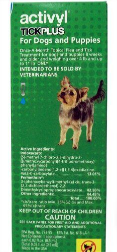Dog Flea Sprays - Activyl Plus Single Dose Flea Treatment for Dogs  Puppies 4lbs and up to 11lbs Only -- More info could be found at the image url. (This is an Amazon affiliate link)