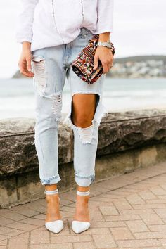 How to Make Ripped Jeans | StyleCaster