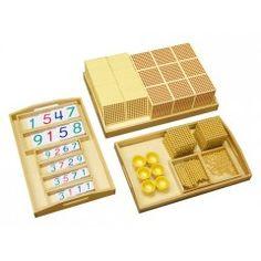 Matériel complet des perles dorées - Tangram Montessori