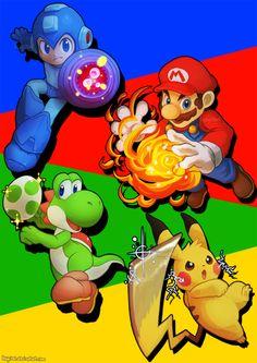 Smash Fighters by Haychel on DeviantArt Super Smash Bros Game, Nintendo Super Smash Bros, Super Mario Bros, Metroid, Care Bear Party, Mundo Dos Games, Video Game Companies, Pokemon, Nintendo Sega