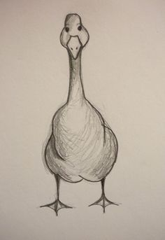 what about a duck/goose from various angles? Goose Drawing, Duck Drawing, Doodle Drawings, Animal Drawings, Drawing Sketches, Sketching, Fabric Painting, Painting & Drawing, Stippling Art