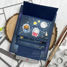 Out of This World Mega Flipper (Mama Elephant) Fancy Fold Cards, Folded Cards, Mama Elephant Stamps, Interactive Cards, Card Tags, Card Making, Design Inspiration, Crafty, Spaceship