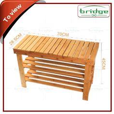 Banco de bambu estilo sapateira