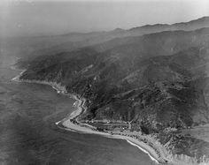 Aerial,Coast,Topanga Beach,California.
