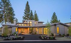 Light-filled Mountain Modern House Plan