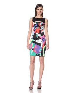66% OFF Black Halo Women\'s Ritter Sleeveless Printed Dress (print/black)