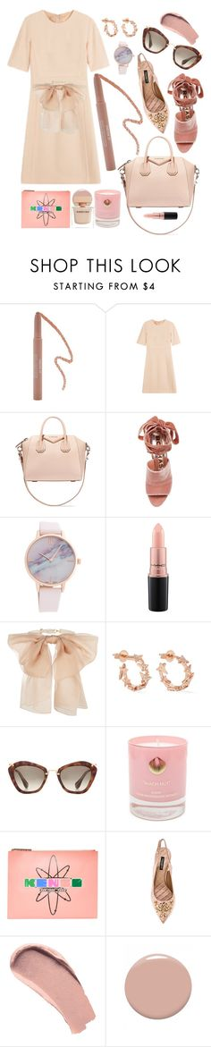 """""""Pink"""" by cherieaustin ❤ liked on Polyvore featuring Forever 21, Michael Kors, Givenchy, Rochas, MAC Cosmetics, Yves Saint Laurent, Diane Kordas, Miu Miu, Hightide Devon and Kenzo"""