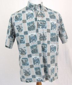 Reyn Spooner Hawaiian Shirt Large Dietrich Varez Tiki Native Traditions Aloha #ReynSpooner #Hawaiian