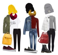 """3 EVA MOHN INSPIRED OUTFITS by meihoeeg on Polyvore featuring Sundry, A.L.C., WearAll, Kate Marie, Wunderwerk, Lilly e Violetta, River Island, Vans, Dr. Martens and Converse I made 3 outfits with inspiration from Eva in the tv-series """"SKAM"""""""