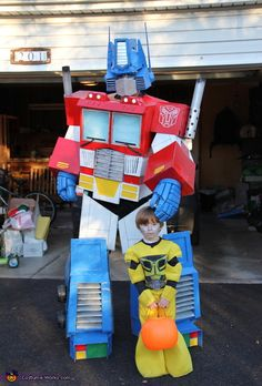 Please vote for my brother: Optimus Prime - 2012 Halloween Costume Contest-the coolest costume from scratch you've ever seen!