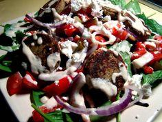 Falafel Spinach Salad Recipe