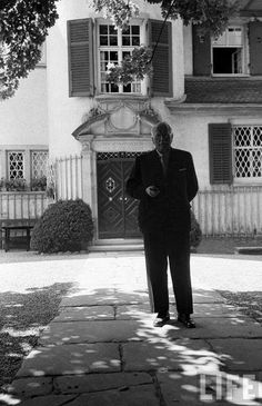 Carl Jung strolling at home