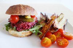 Ekstremt bra utrolig fint: Rødbetburger