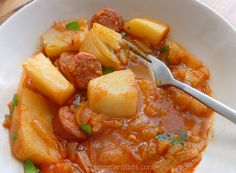 A quick tasty family supper dish. Serve with fresh white bread and some pickled cucumbers on the side. Croatian Recipes, Hungarian Recipes, Hungarian Food, German Recipes, Hungarian Cuisine, Portuguese Recipes, Turkish Recipes, Eastern European Recipes, European Cuisine