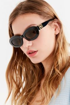 Vintage Onassis Oval Sunglasses | Urban Outfitters