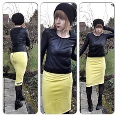 Handmade fashion Made in Bavaria Shirt+skirt yellow Upper palatinate rocks