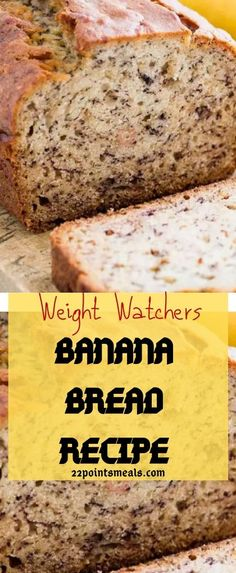 Banana Stem Juice For Weight Loss Frozen Banana Recipes, Banana Bread Recipes, Weight Watchers Breakfast, Weight Watchers Desserts, Overnight Oats, Low Calorie Banana Bread, Ww Recipes, Healthy Recipes, Recipies