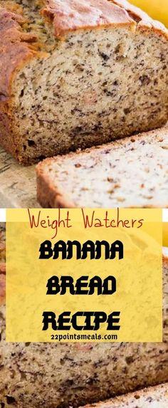 Banana Stem Juice For Weight Loss Frozen Banana Recipes, Banana Bread Recipes, Low Calorie Banana Bread, Weight Watchers Breakfast, Weight Watchers Desserts, Overnight Oats, Quiche, Weight Watcher Banana Bread, Breakfast Low Carb
