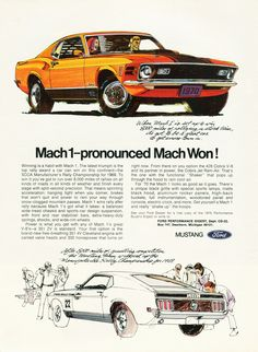 1970 Ford Mustang fastback Mach 1 advertisement