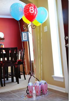 favors - cute every kid gets their own balloon and favor