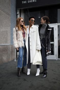 NEW YORK, NY - FEBRUARY 10: Sonequa Martin-Green and friends are seen on the street attending Dion Lee during New York Fashion Week on February 10, 2018 in New York City. (Photo by Matthew Sperzel/Getty Images)